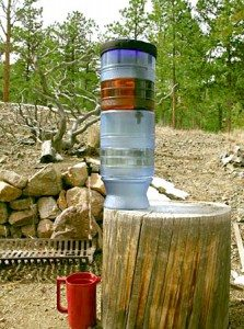 gravity water filter, backcountry water filter, filter sediment, office water filter