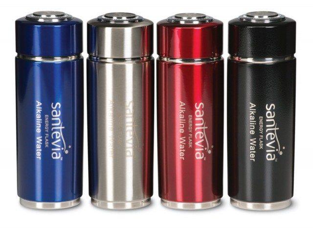 bottled water alkaline, making water alkaline, santevia, alkaline water products, alkaline water bottle