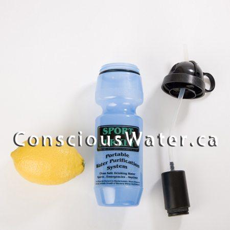 sport berkey water bottle with filter conscious water berkey water filter. Black Bedroom Furniture Sets. Home Design Ideas