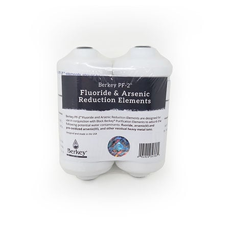 Fluoride reduction elements for Berkey Water Filter
