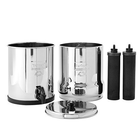 Big Berkey system plus two elements for water filtration