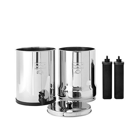 Royal Berkey system plus two elements for water filtration