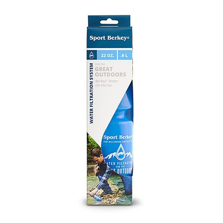 Packaging for Sport Berkey bottle for water filtration in Canada
