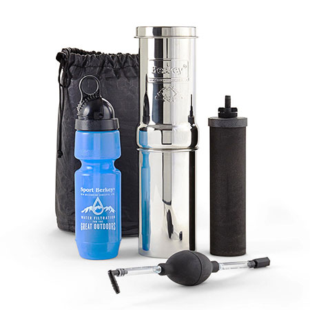 Go Berkey travel kit for water filtration