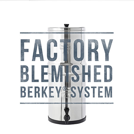 Travel Berkey Scratch and Dent Sale for Water Filtration
