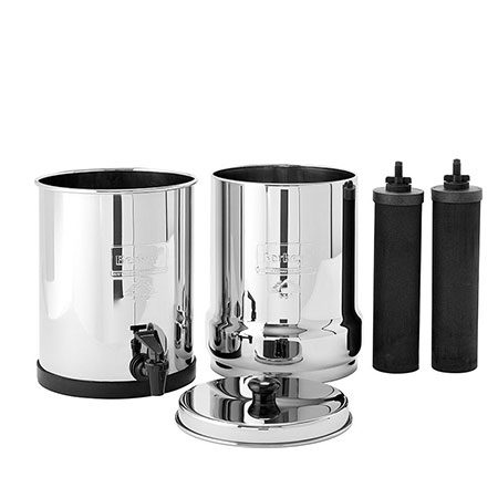 Travel Berkey system plus two elements for water filtration